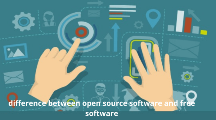 difference between open source and free software